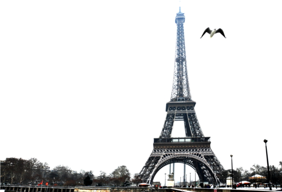 A view of the Eiffel Tower from the Trocadéro Gardens across the river Seine   Paris by snow   FoloMojo
