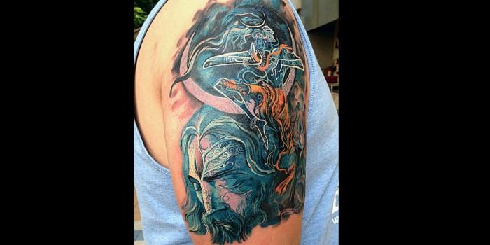 Har har mahadev here 39 s why shiva is lord of the tattoos for Har har mahadev tattoo