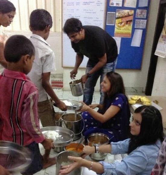 Sunder at an orphanage home (Image courtesy: Sunder's blog post)