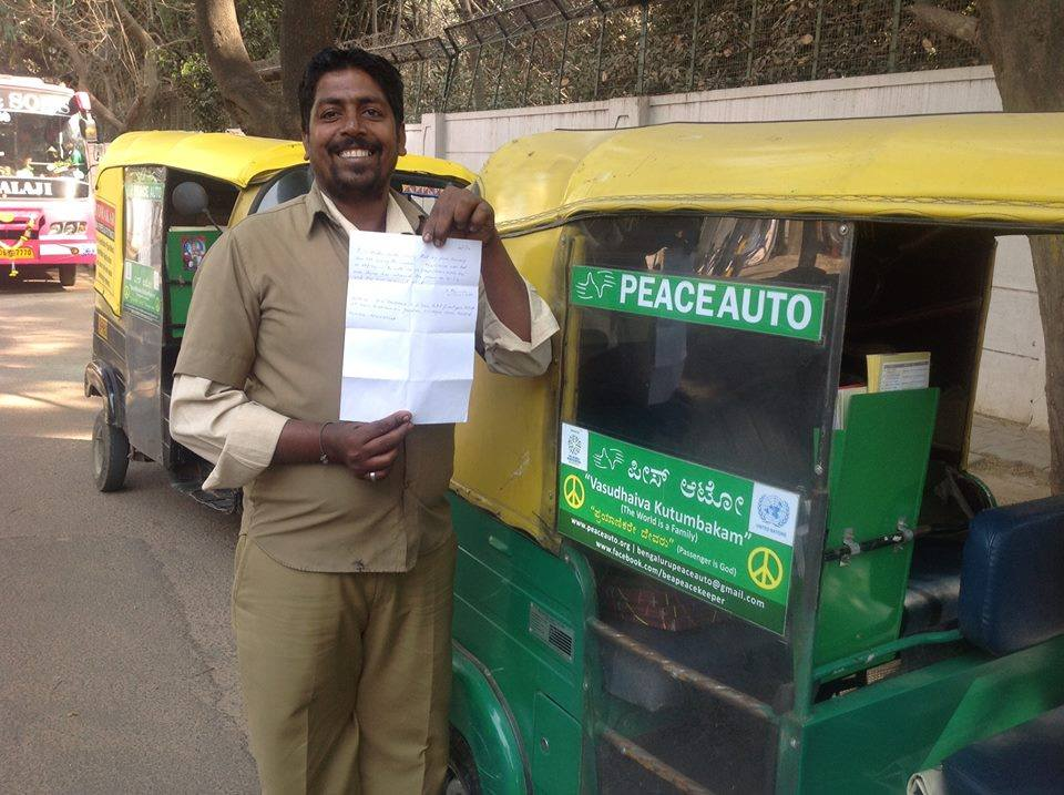 Bangalore can become a city of accommodative auto drivers. Look who's making 'peace' with them!