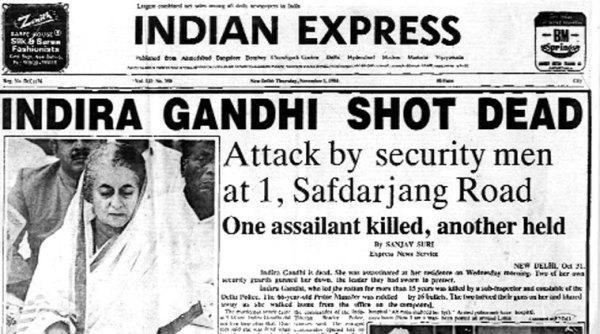 Image result for india prime minister indira gandhi assassinated