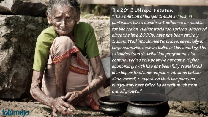 India is the World's hunger capital. A 'roti' is still a distant dream for many!