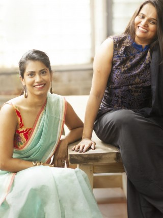 The brains behind House of Blouse, Rachana Reddy (L) and Roopa Reddy (R)