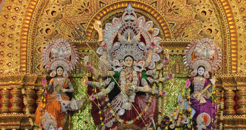 The Durga Puja Pandal at College square in Cuttack