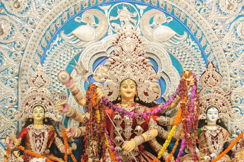 Durga Puja Pandal at Chandni Chowk in Cuttack