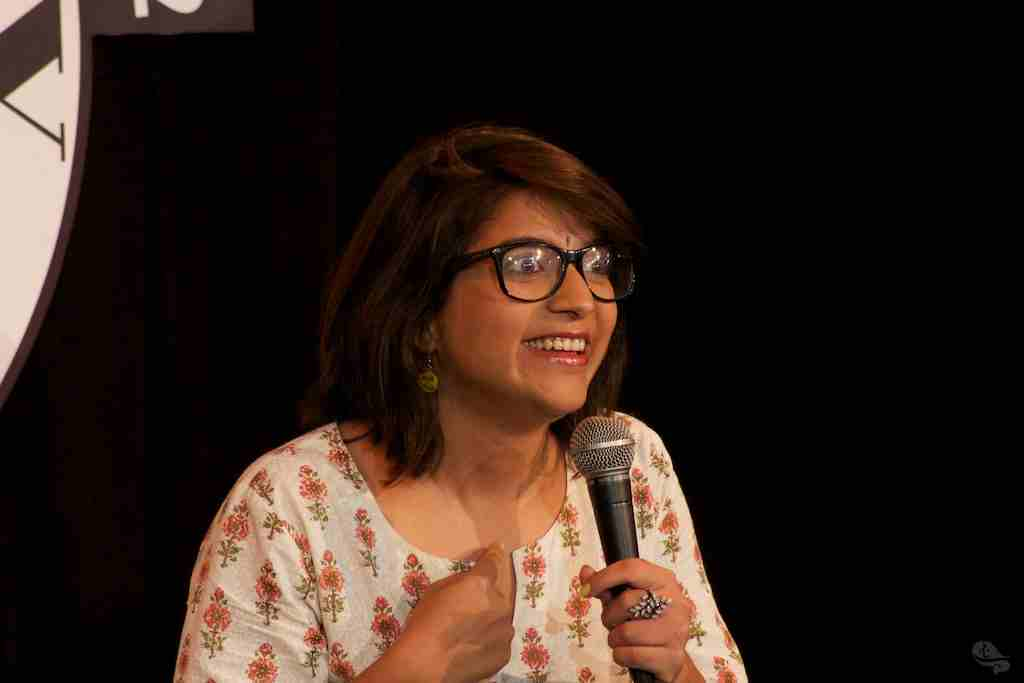 Aditi Mittal at the Comedy Store in Mumbai (Image courtesy: liveinstyle.com)