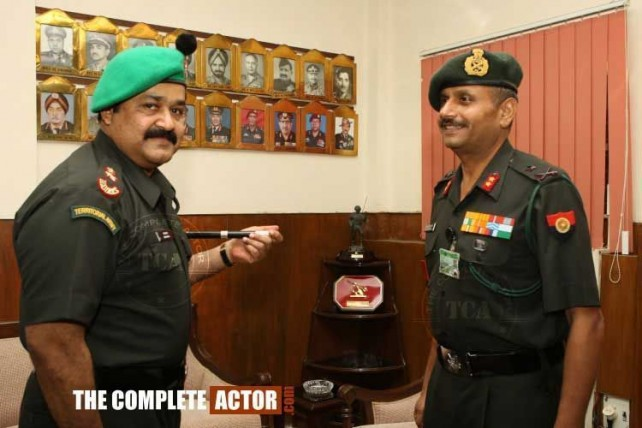 Lt. Colonel Mohanlal of the Indian Territorial Army Image credit: thecompleteactor.com