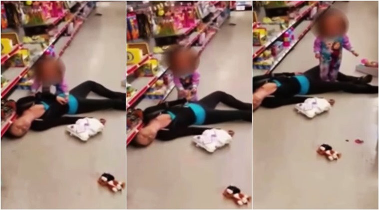 Video Helpless Toddler Tries To Wake Up Her Drug
