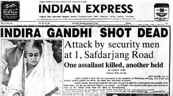 Image result for india prime minister indira gandhi assassinated